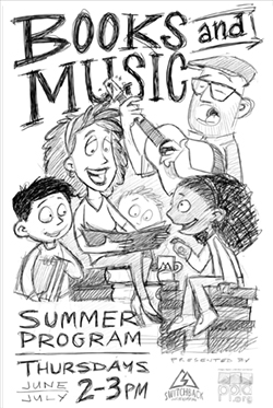 Books and Music_Sketch Rough